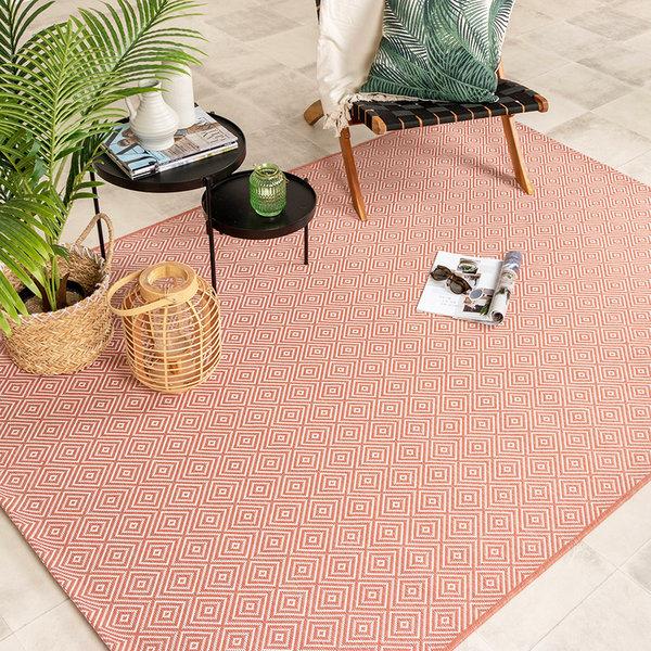 Buitenkleed - Summer Tile Roze