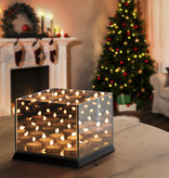 Lifa Living Never-ending Light Cube Waxinelichthouder - Zwart