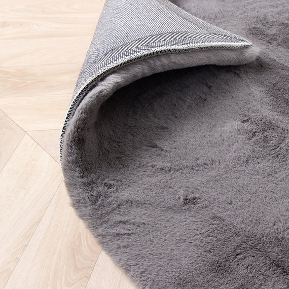 FRAAI Zachte Hoogpolige loper - Comfy Antraciet