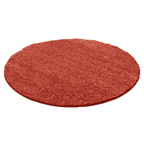 FRAAI Rond Hoogpolig vloerkleed - Solid Rood