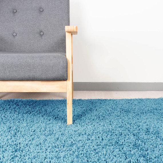 FRAAI Hoogpolig vloerkleed - Solid Turquoise