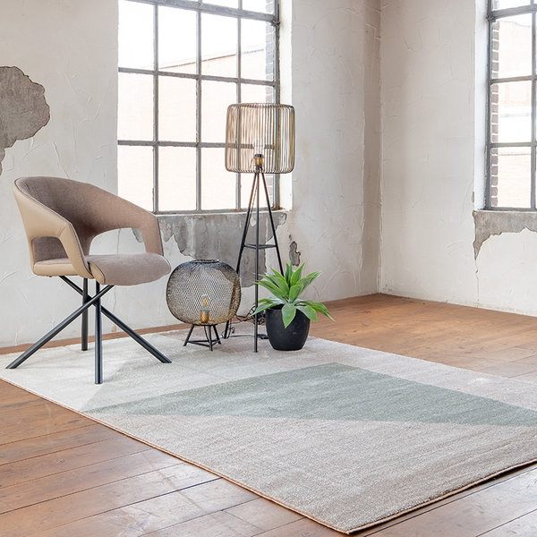 Modern vloerkleed - Scandy Groen Beige