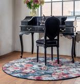 FLOOR Rond Bloemen vloerkleed - Flores Blauw Rood