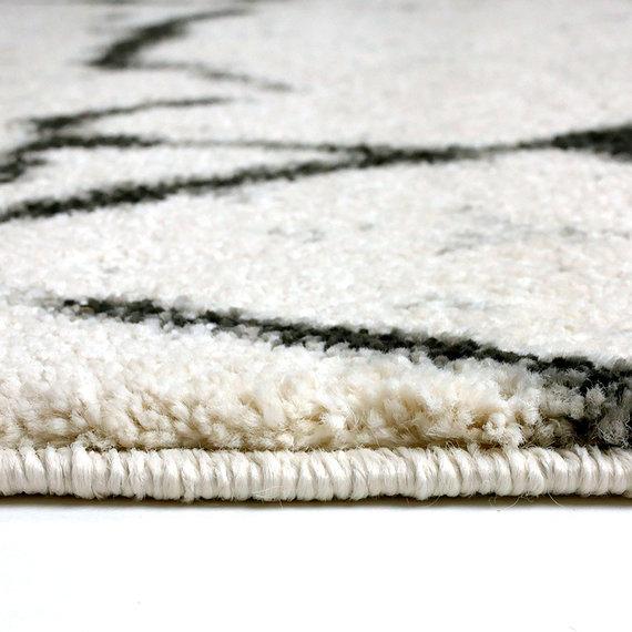 FLOOR Modern vloerkleed - Flash Lines Creme/Zwart