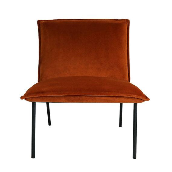 Kick Collection Velvet  Fauteuil - Lola oranje