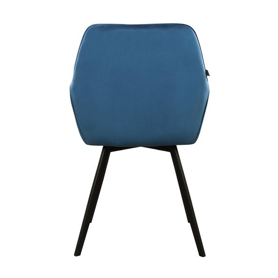 Kick Collection Velvet eetkamerstoel - Karl donkerblauw