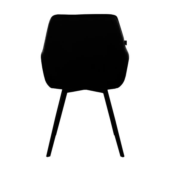 Kick Collection Velvet eetkamerstoel - Karl zwart