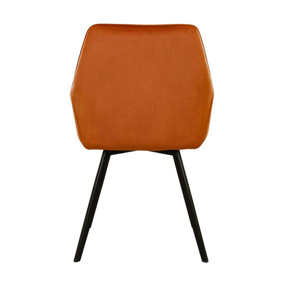 Kick Collection Velvet eetkamerstoel - Karl oranje