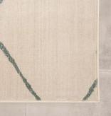 FRAAI Scandinavisch vloerkleed – Odin Lines Creme Groen