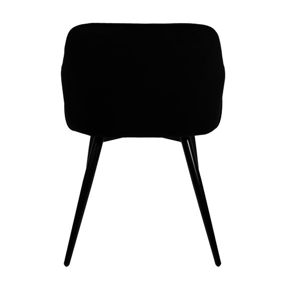 Kick Collection Velvet eetkamerstoel - Matz zwart
