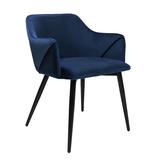 Kick Collection Velvet eetkamerstoel - Matz blauw