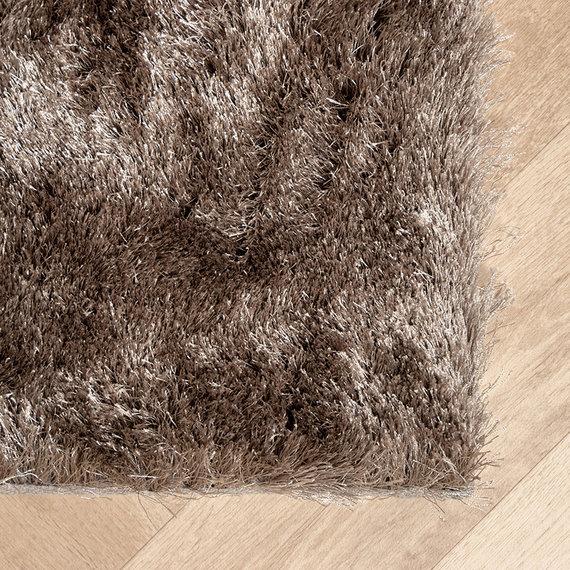 FRAAI Hoogpolig vloerkleed - Glorious Zilver / Grijs