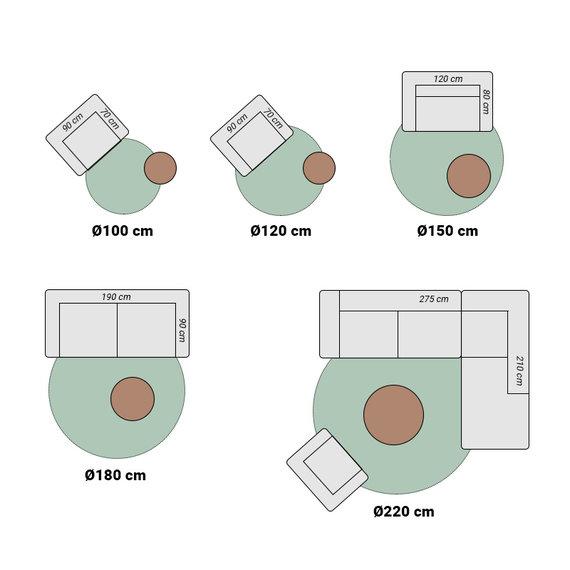 FRAAI Rond wollen vloerkleed - Wise Wit/Gemeleerd No. 367