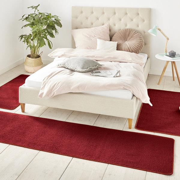 Slaapkamer vloerkledenset - Penny Rood