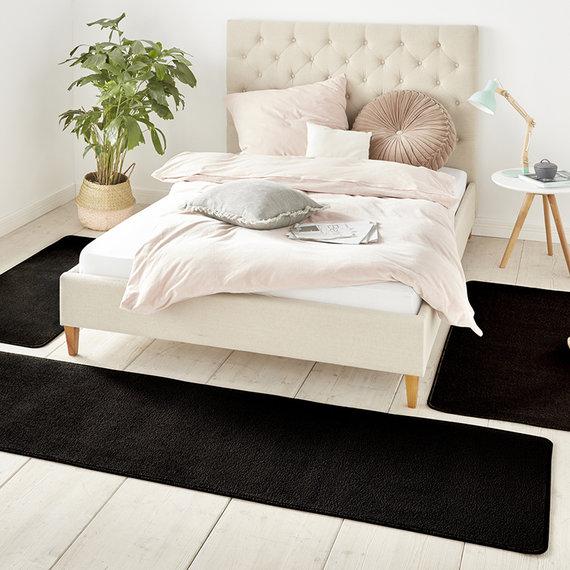 Hanse Home Slaapkamer vloerkledenset - Penny Zwart
