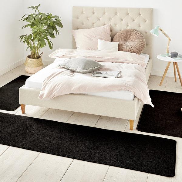 Slaapkamer vloerkledenset - Penny Zwart