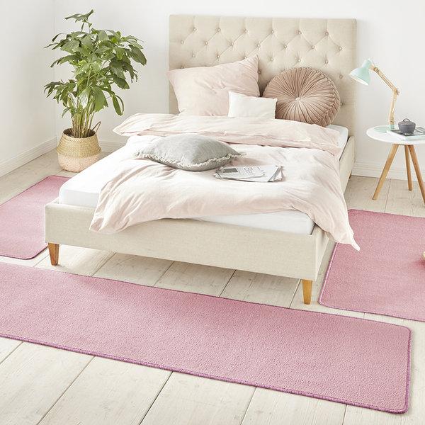 Slaapkamer vloerkledenset - Penny Lichtroze