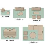 Bougari Buiten vloerkleed - Leyte Groen Creme