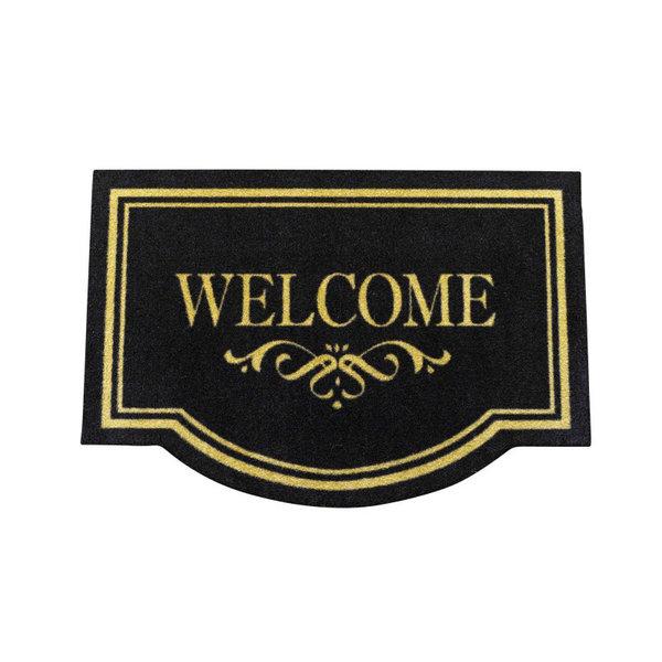 Design deurmat - Lucky Welcome Bruin Zwart