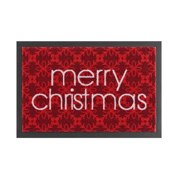 Hanse Home Design deurmat - Lucky Merry Christmas Rood