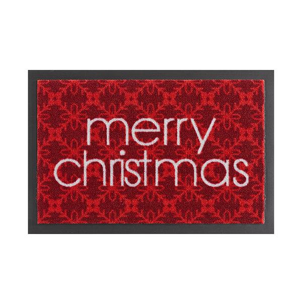 Design deurmat - Lucky Merry Christmas Rood