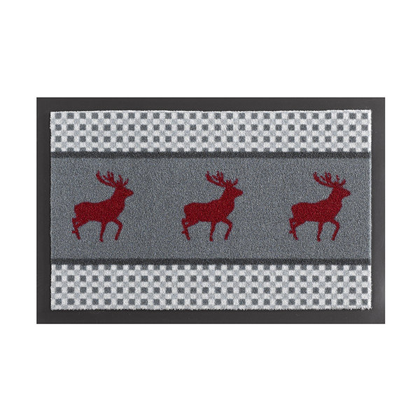 Design deurmat - Lucky Hert Grijs Rood