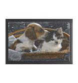 Hanse Home Design deurmat - Lucky Hond en Kat Bruin Wit