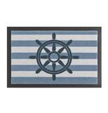 Hanse Home Design deurmat - Lucky Stuur Blauw Wit