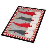 Hanse Home Design deurmat - Lucky Kerstkabouter Rood Grijs