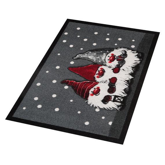 Hanse Home Design deurmat - Lucky Kerstkabouter Grijs Rood