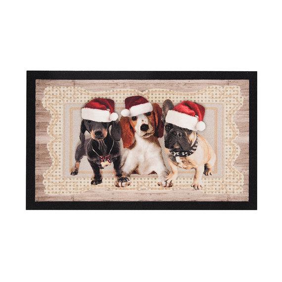 Hanse Home Design deurmat - Lucky Kersthond Bruin