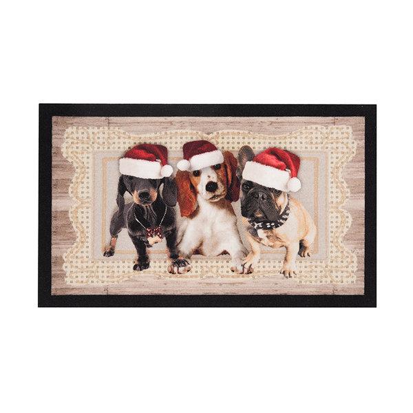 Design deurmat - Lucky Kersthond Bruin