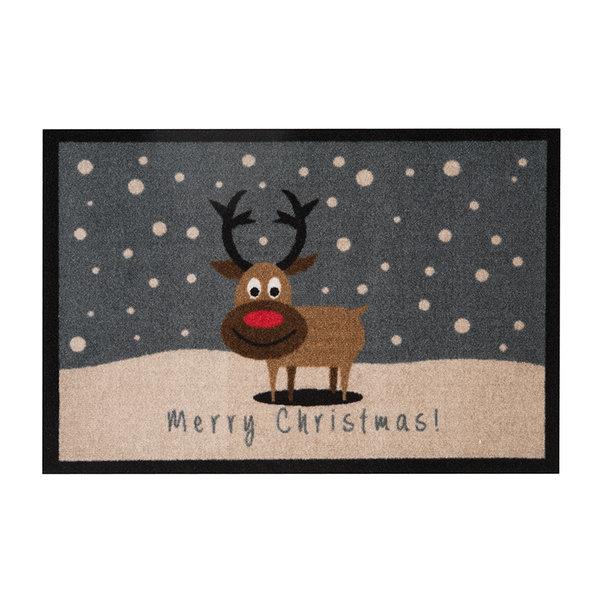 Design deurmat - Lucky Kersthert Bruin Grijs