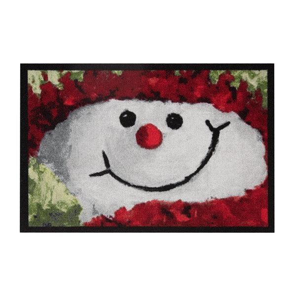 Design deurmat - Lucky Sneeuwpop Rood Wit