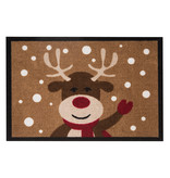 Hanse Home Design deurmat - Lucky Kersthert Bruin