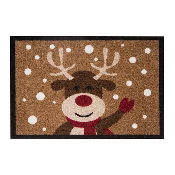 Design deurmat - Lucky Kersthert Bruin
