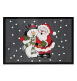 Hanse Home Design deurmat - Lucky Kerstman Grijs Rood