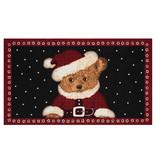 Hanse Home Design deurmat - Lucky Kerstbeer Rood Zwart