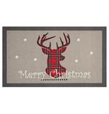 Hanse Home Design deurmat - Lucky Merry Christmas Grijs