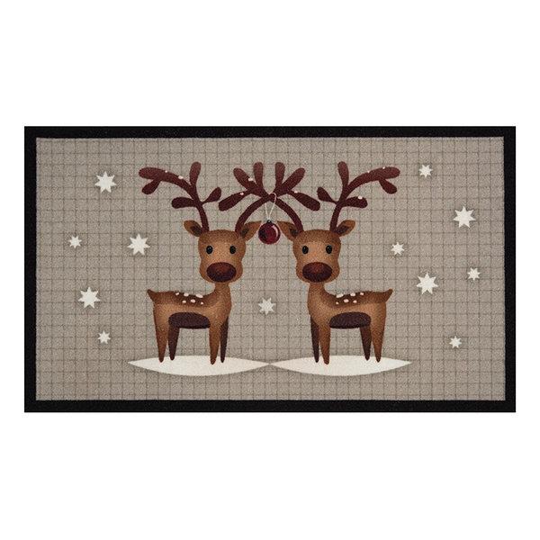 Design deurmat - Lucky Kersthert Grijs Bruin