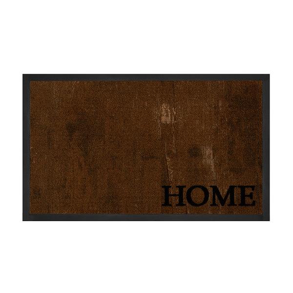 Design deurmat - Lucky Home Bruin Antraciet