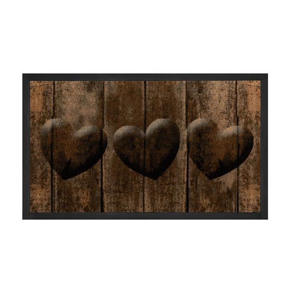 Design deurmat - Lucky Hart Bruin