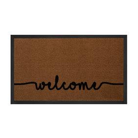 Hanse Home Design deurmat - Lucky Welcome Bruin Antraciet
