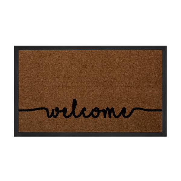 Design deurmat - Lucky Welcome Bruin Antraciet