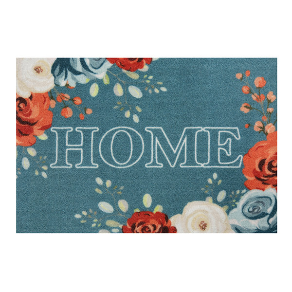 Design deurmat - Lucky Home Turquoise