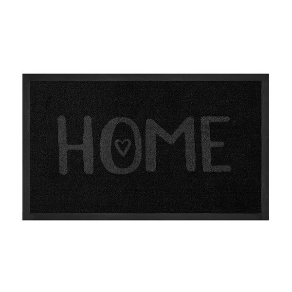 Design deurmat - Lucky Home Zwart Grijs