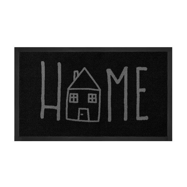 Design deurmat - Lucky Home Antraciet Grijs