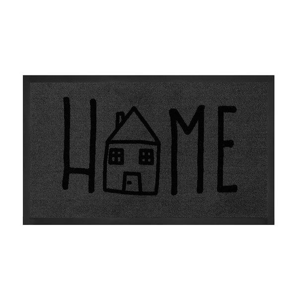 Design deurmat - Lucky Home Grijs Antraciet