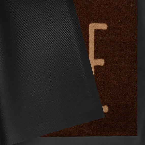 Hanse Home Design deurmat - Lucky Home Donkerbruin Creme