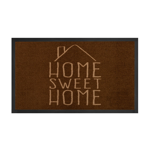 Hanse Home Design deurmat - Lucky Home Bruin Creme
